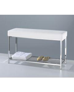 Badkamerbank 90 cm met handdoekenplateau Decor Walther wit
