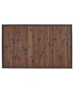 Badmat Bamboe hout donker bruin