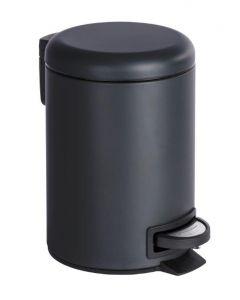 Pedaalemmer voor badkamer Leman 3 ltr  leman zwart