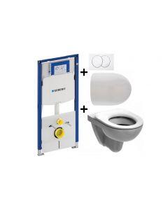 Sphinx 280 toiletset met Geberit UP100 Duofix en bedieningsplaat