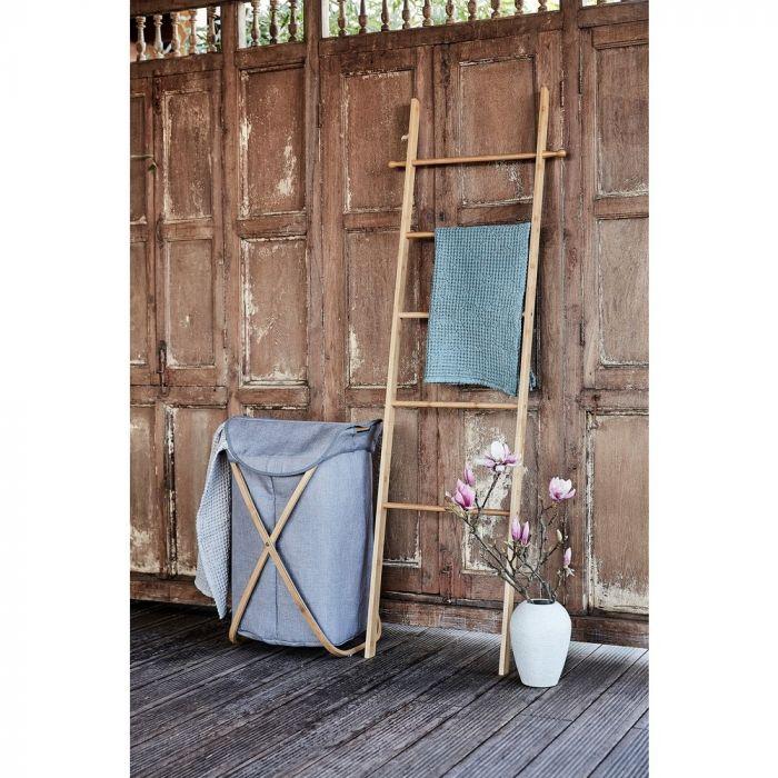 Bamboe Handdoek Ladder.Handdoekladder Bahari Van Bamboe Hout
