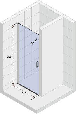 Douchedeur In Glas.Riho Novik Douchedeur Z101 78x200cm