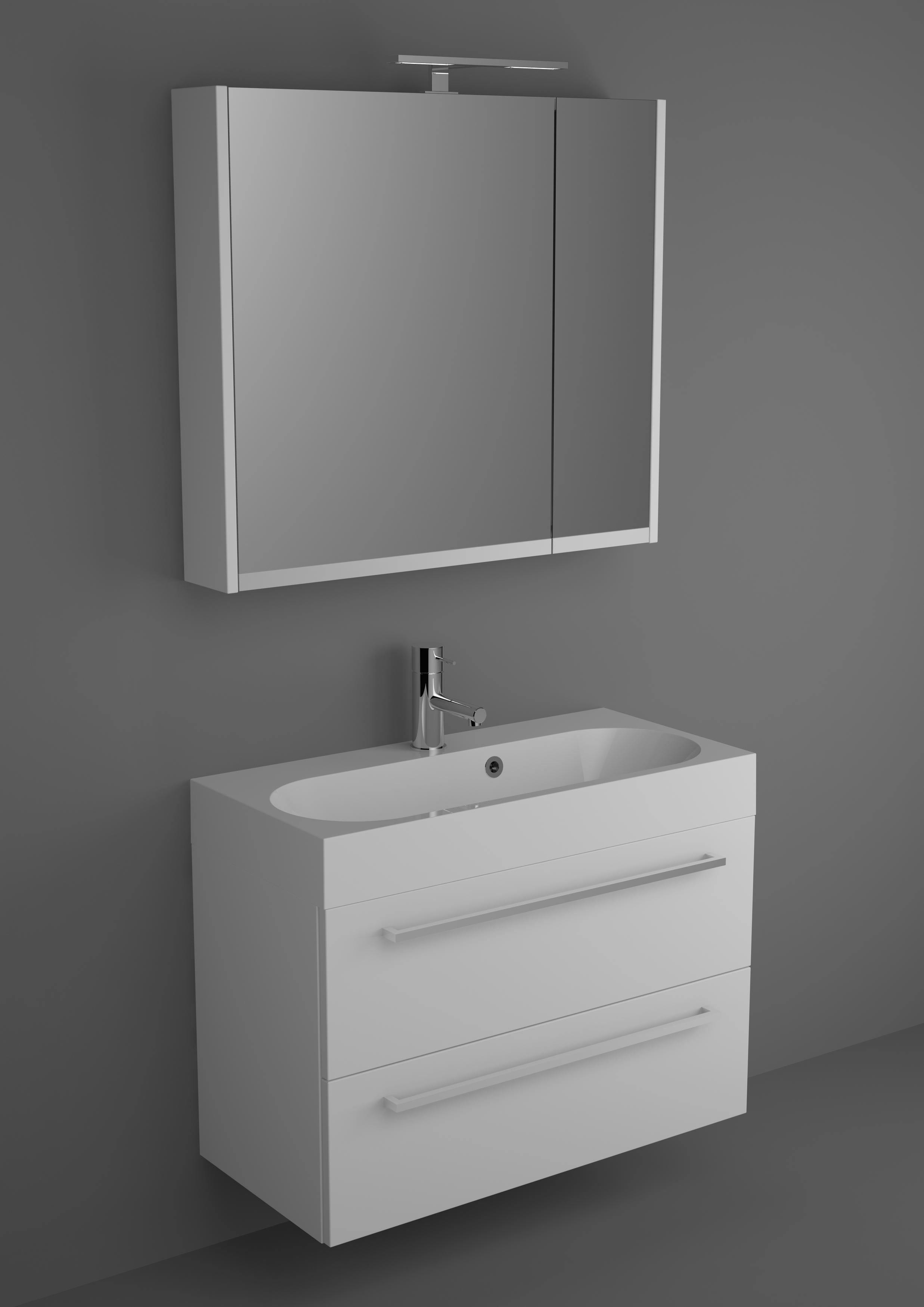 6263bf46862 Riho badkamermeubel Slimline 80cm met spiegelkast   Bad-winkel.nl